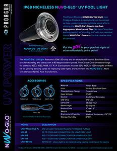 NUVO-Glo UV Lighting Specs