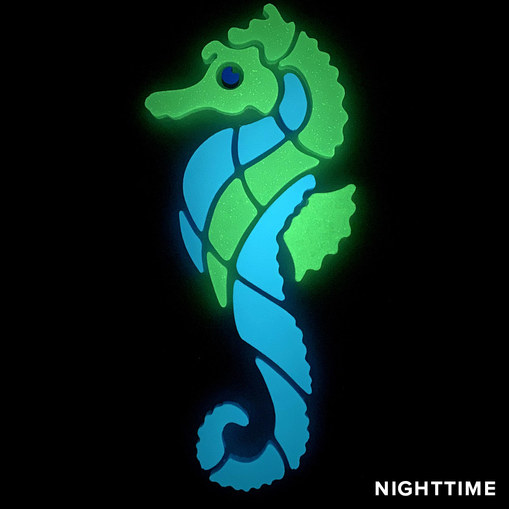 Seahorse Glow Mosaic