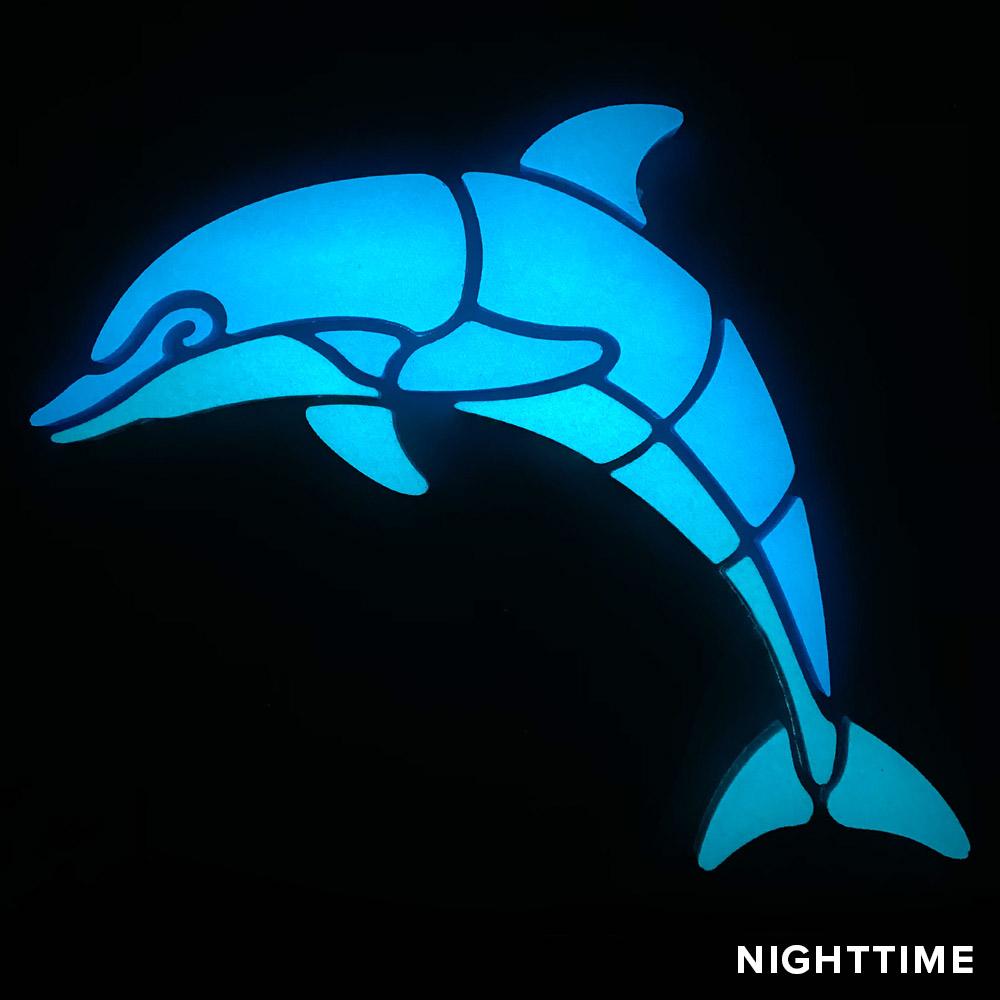 Dolphin Glow Mosaic